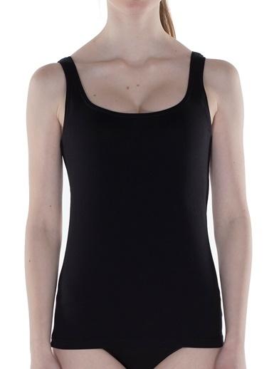 Hays Basic Kadın Cotton Kalın Askılı Atlet Siyah